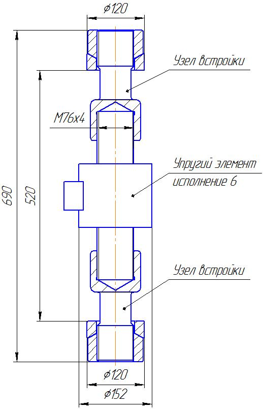 Вариант исполнения 6 - ДМР-1000/6-КМГ4