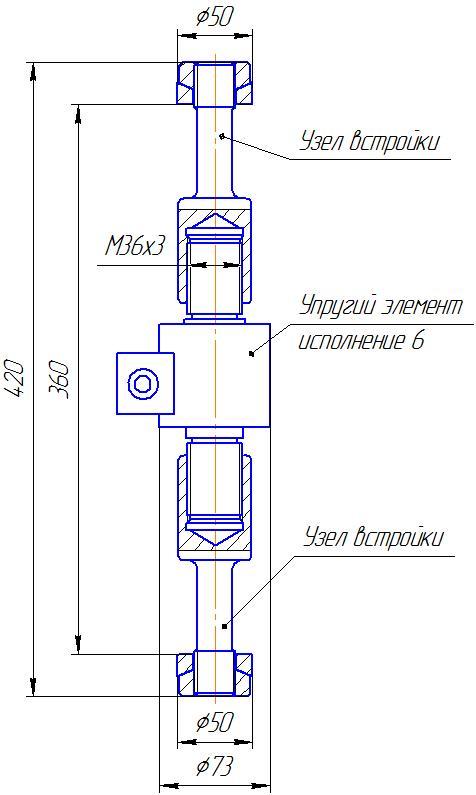 Вариант исполнения 6 - ДМР-100/6-КМГ4