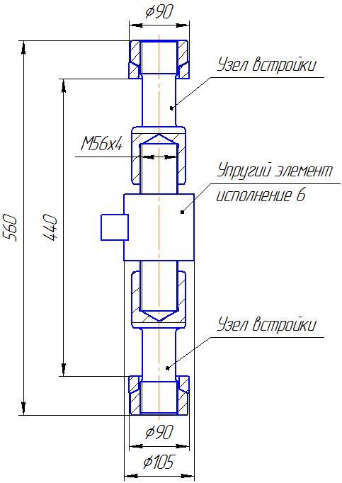 Вариант исполнения 6 - ДМР-500/6-КМГ4