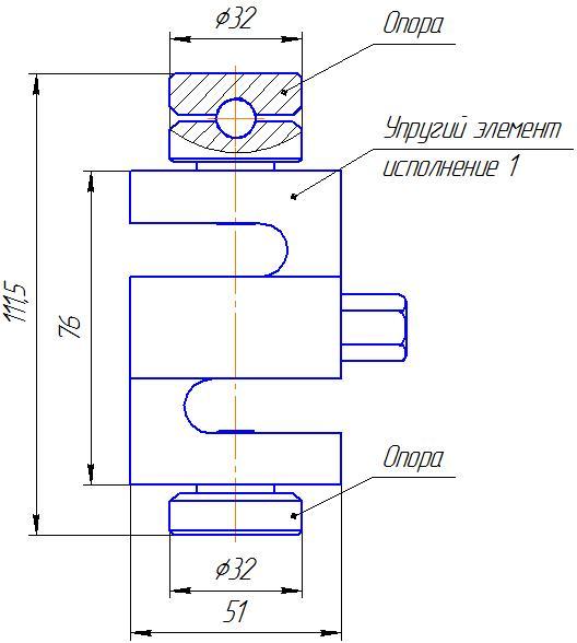 Вариант исполнения 1 - ДМУ-5/1-КМГ4