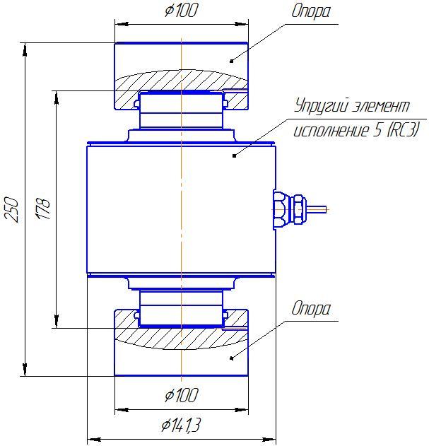 Вариант исполнения 5 - ДМC-1000/5-КМГ4